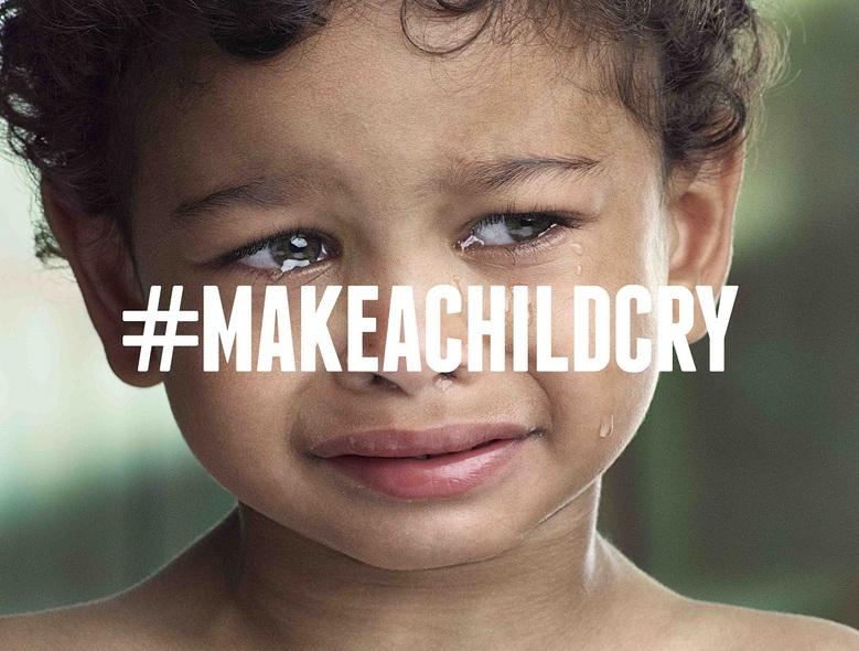 makeachildcry   la campagne qui fait pleurer les enfants