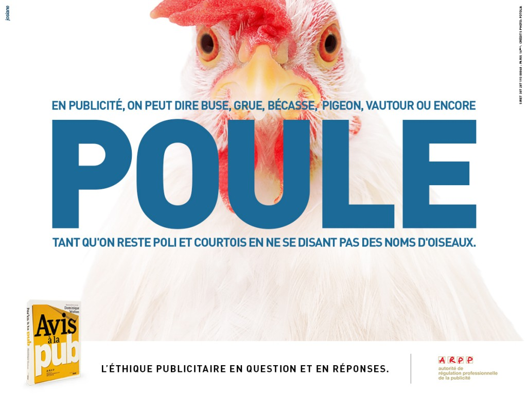 ARPP - Avis à la pub - Poule - Agence Josiane