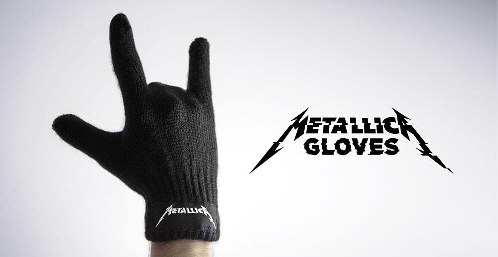 Des gants spécialement conçus pour les fans de Metallica