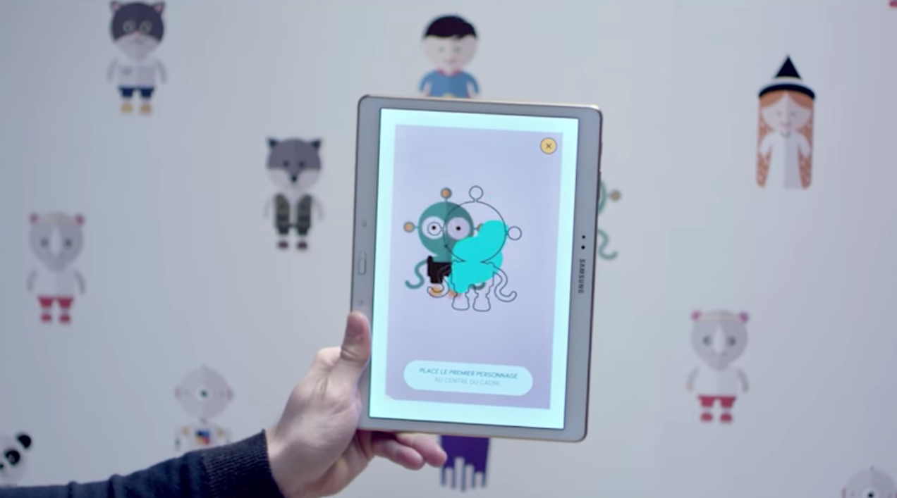 castorama cr u00e9e un papier peint interactif qui raconte des histoires
