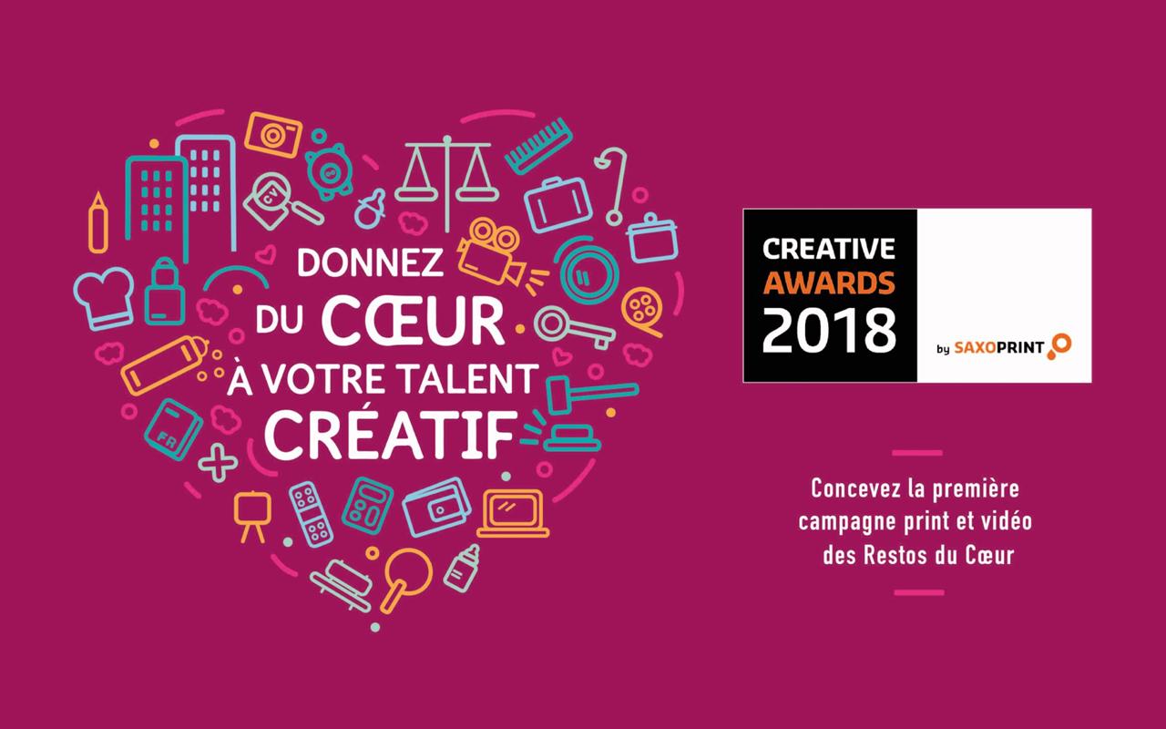 Creative Awards by Saxoprint : créez la prochaine campagne des Restos du Coeur !