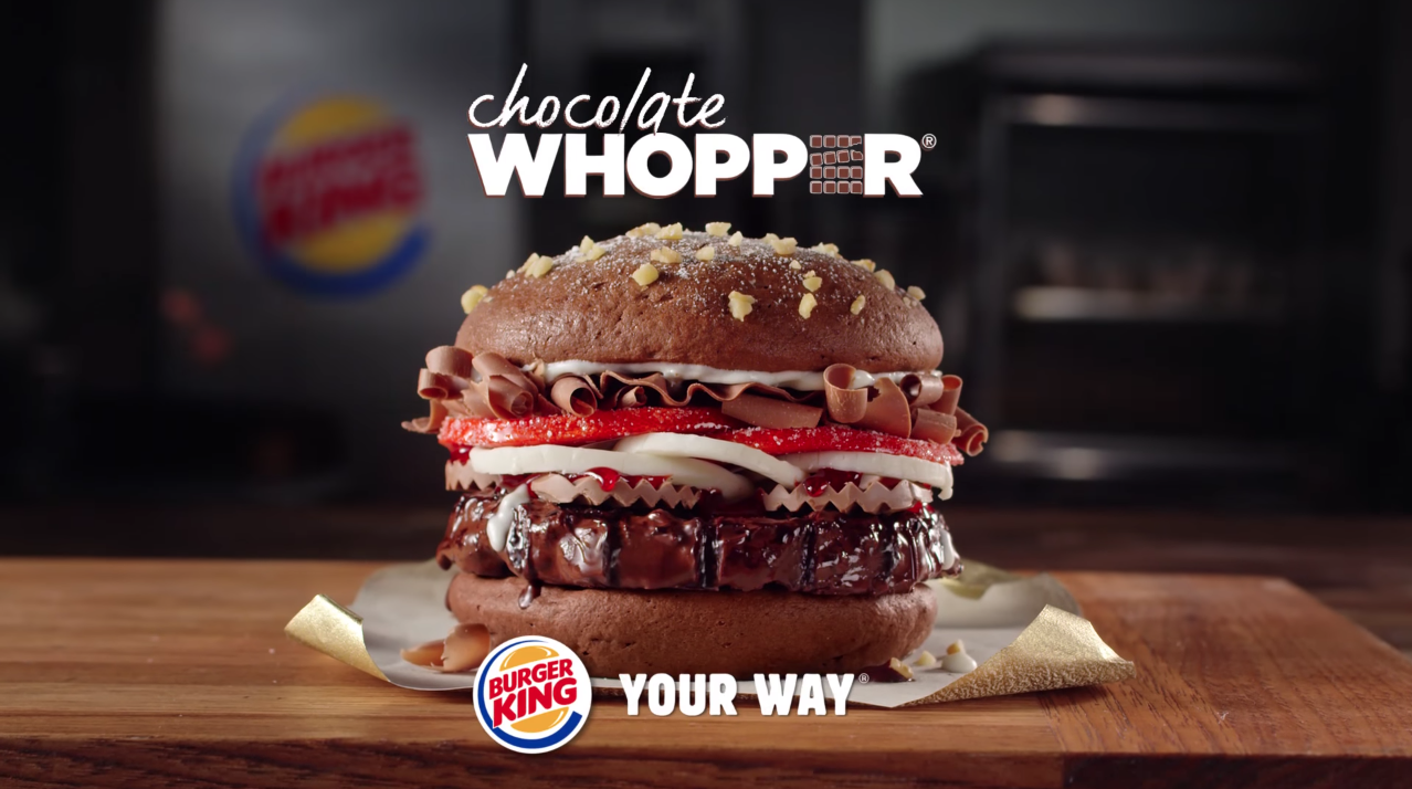 burger king cr u00e9e un whopper au chocolat pour p u00e2ques