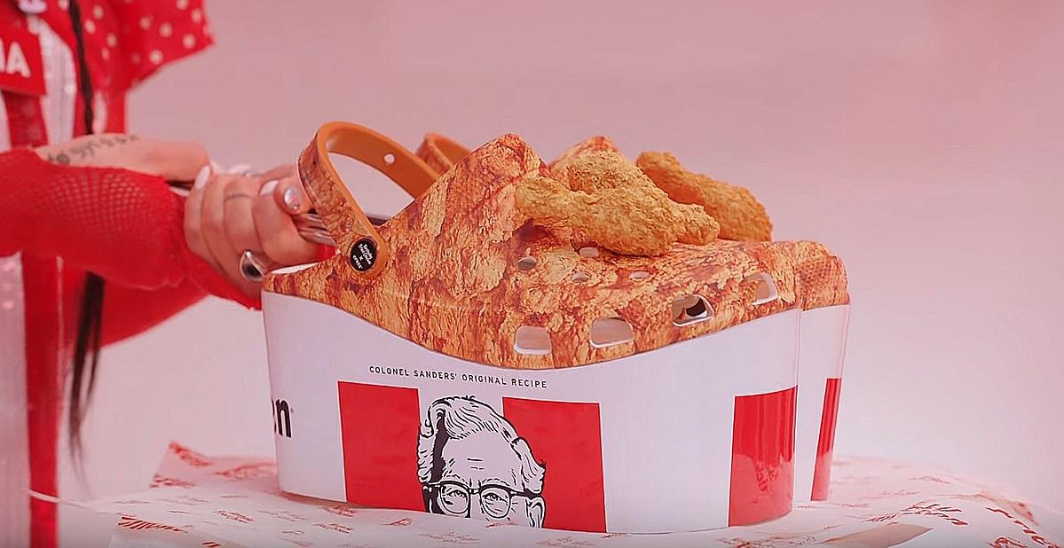 KFC et Crocs lancent des chaussures pour les vrais fans de